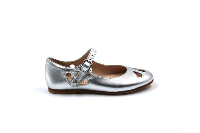 Eugens Alexa Silver Mary Jane Girls Dress Shoes