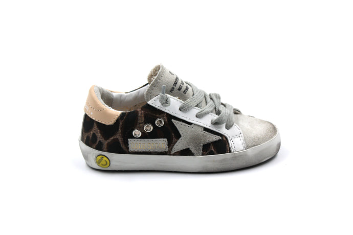 Golden Goose Leopard and Ice Star Sneaker