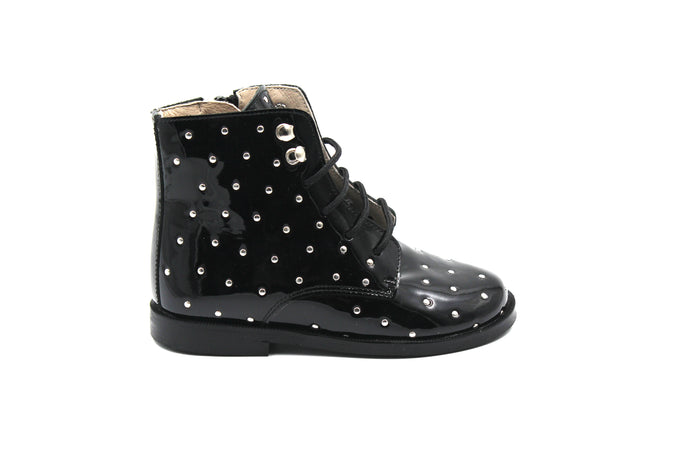 Hoo Patent Studded Bootie