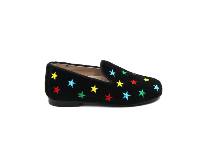 Hoo Black Velvet Multistar Smoking Shoe