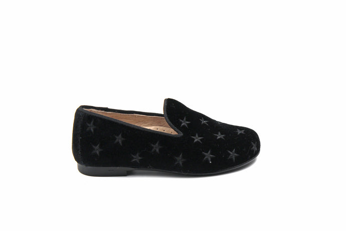 Hoo Black Star Velvet Smoking Shoe