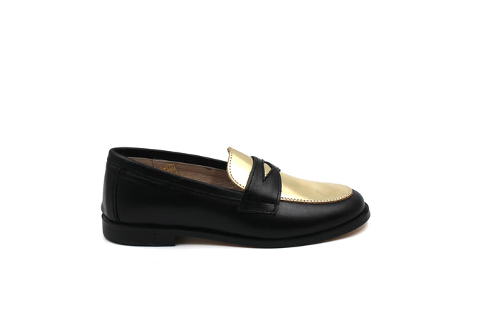 Hoo Gold Detail Penny Loafer