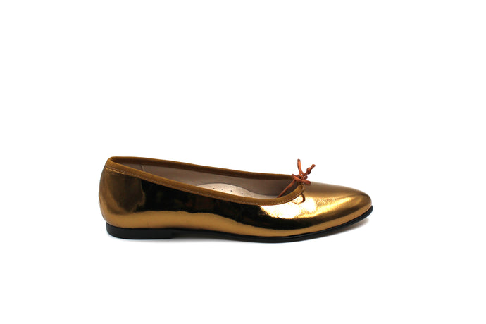 Hoo Bronze Pointed Ballet Flat