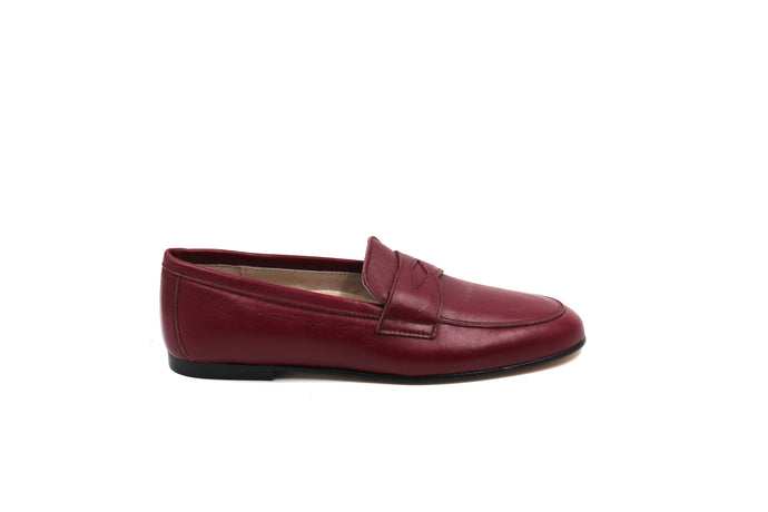 Hoo Wine Leather Penny Loafer