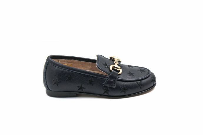 Hoo Navy Star Buckle Loafer