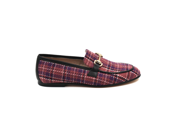 Hoo Plaid Buckle Loafer