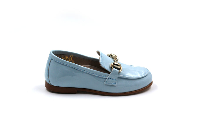 Hoo Sky Patent Buckle Loafer Dress Shoes Boys
