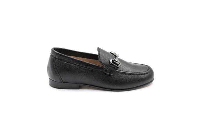 Hoo Black Buckle Loafer