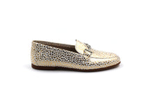 Girls Hoo Gold Speckled Buckle Loafer