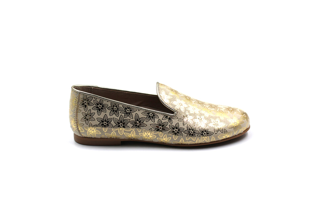 Hoo Metallic Floral Smoking Shoe