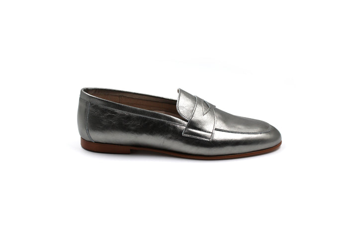 Hoo Silver Penny Loafer