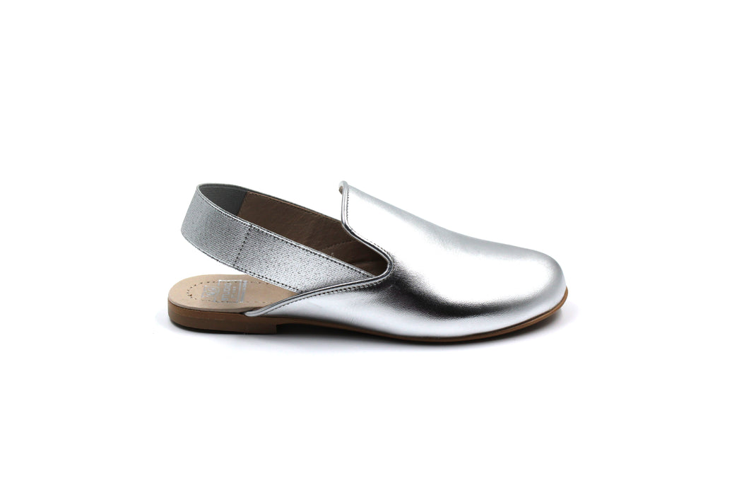 Hoo Silver Slingback Little Girl Shoes