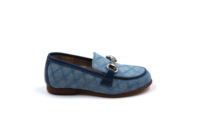 Hoo Denim Quilted Buckle Loafer