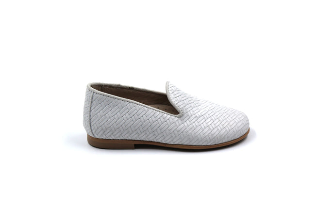 Hoo White Woven Smoking Shoe