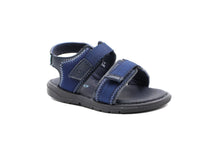 Hugo Boss Navy Sandal With Logo