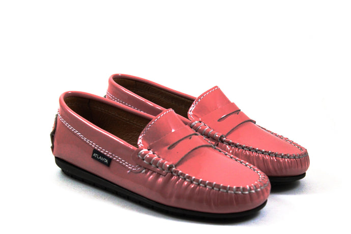 Atlanta Pink Patent Penny Loafers