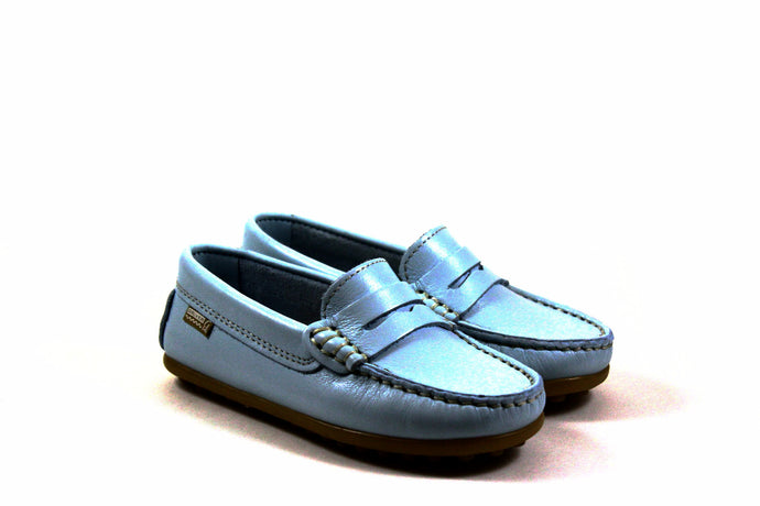 Papanatas Sky Blue Driver Penny Loafer