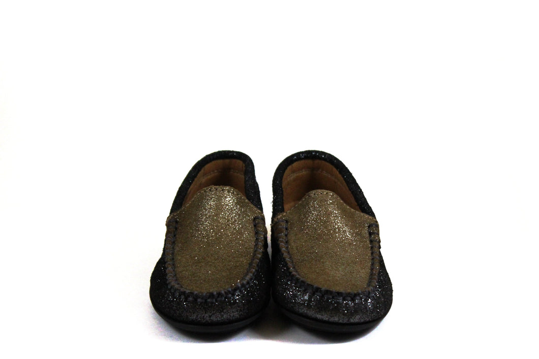 Atlanta Sparkle Taupe And Gray Loafer Hal Shoes