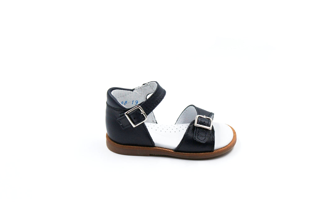Beberlis Navy Buckle Baby Sandals