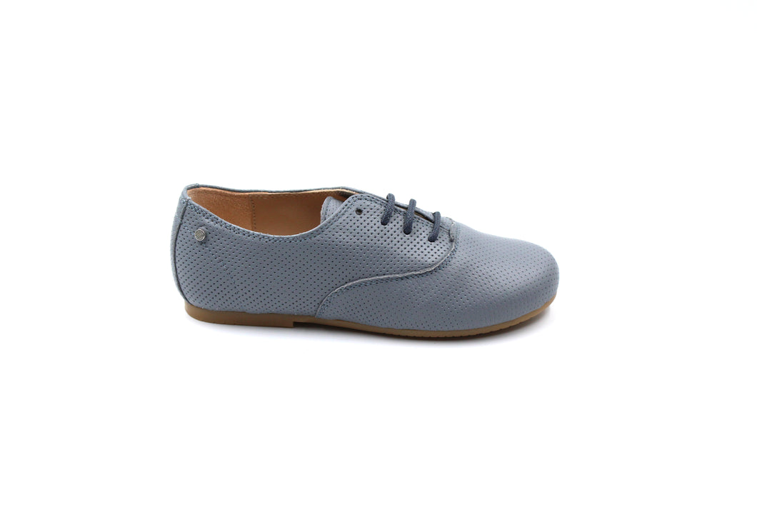 Manuela De Juan Grey Leather Oxford