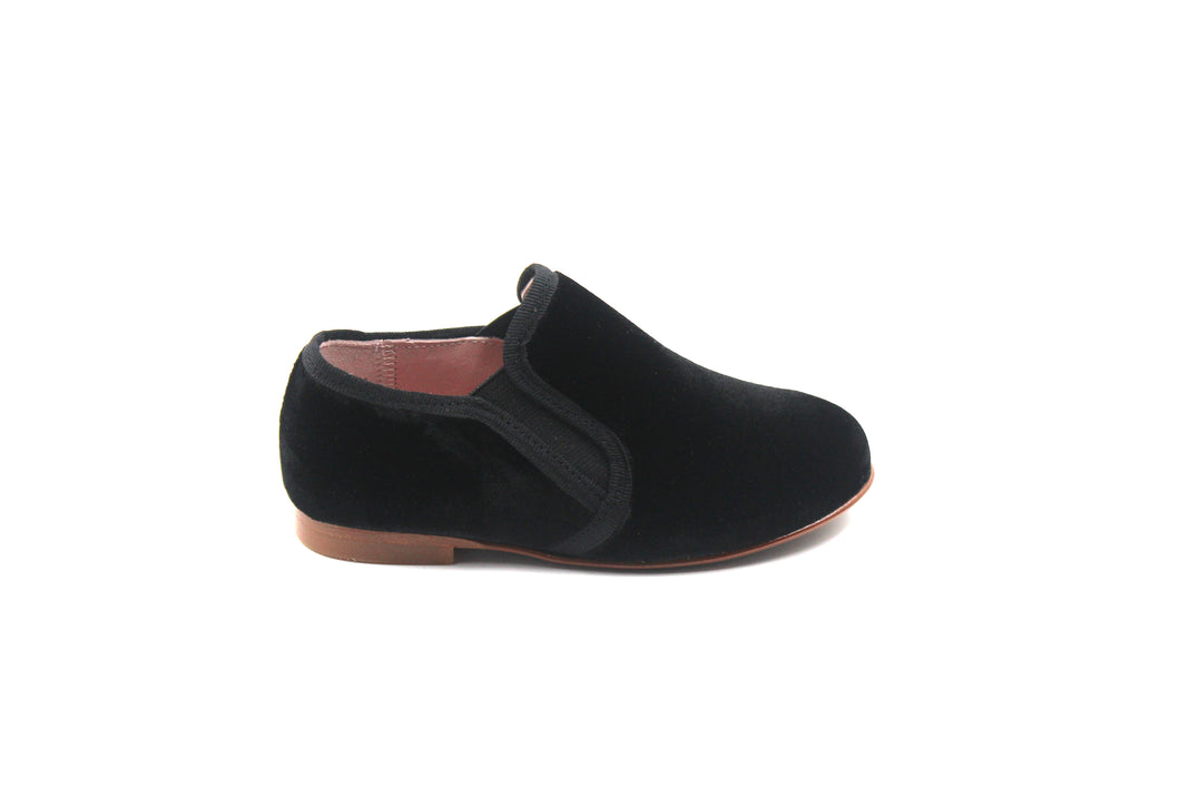 LMDI Black Velvet Smoking Shoe
