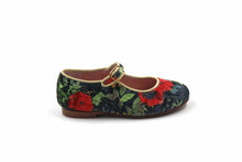 LMDI Black Velvet Floral Mary Jane