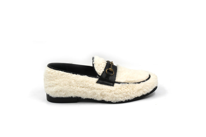 LMDI White Sherpa Loafer