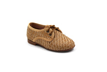 baby infant toddler LMDI Camel Wicker Oxford Dress Shoes