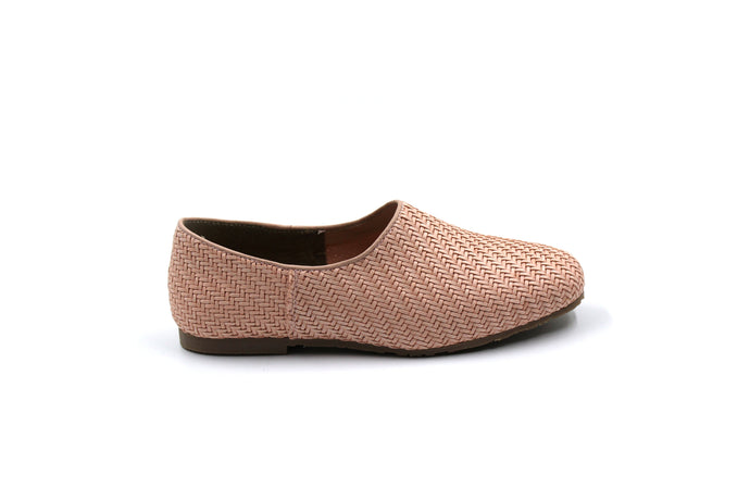 LMDI Girls Pink Wicker Dress Shoes