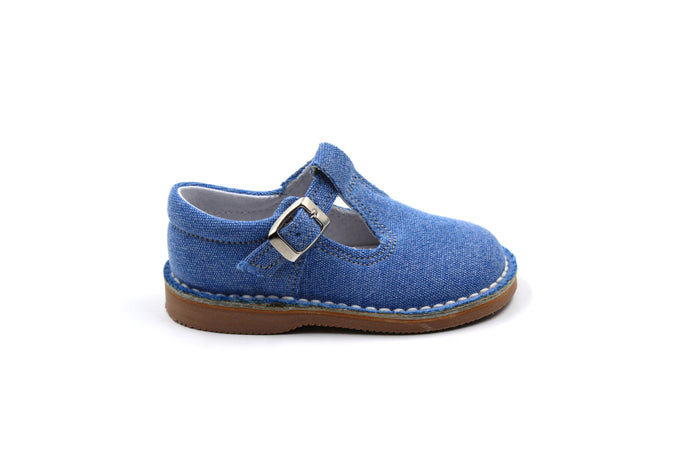 LMDI Denim T-Strap Toddler dress Shoes