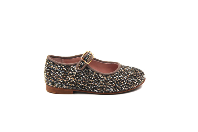 LMDI Brown Tweed Mary Jane