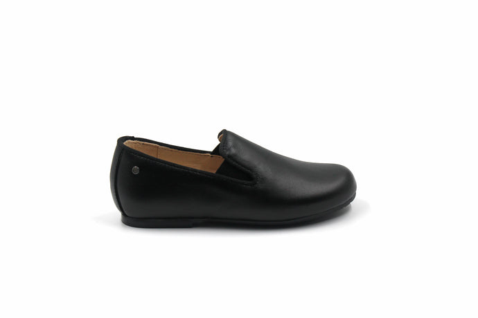 Manuela De Juan Black Leather Smoking Shoe