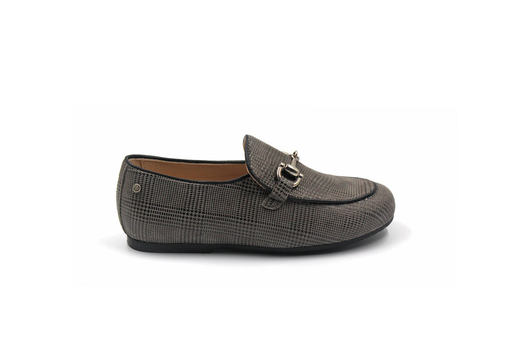 Manuela De Juan Grey Scottish Buckle Shoe
