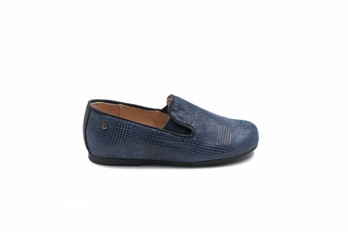 Manuela de Juan Navy Scottish Smoking Shoe