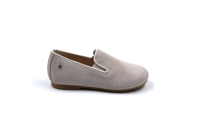 Manuela De Juan Beige Smoking Shoe Kids Toddler shoes