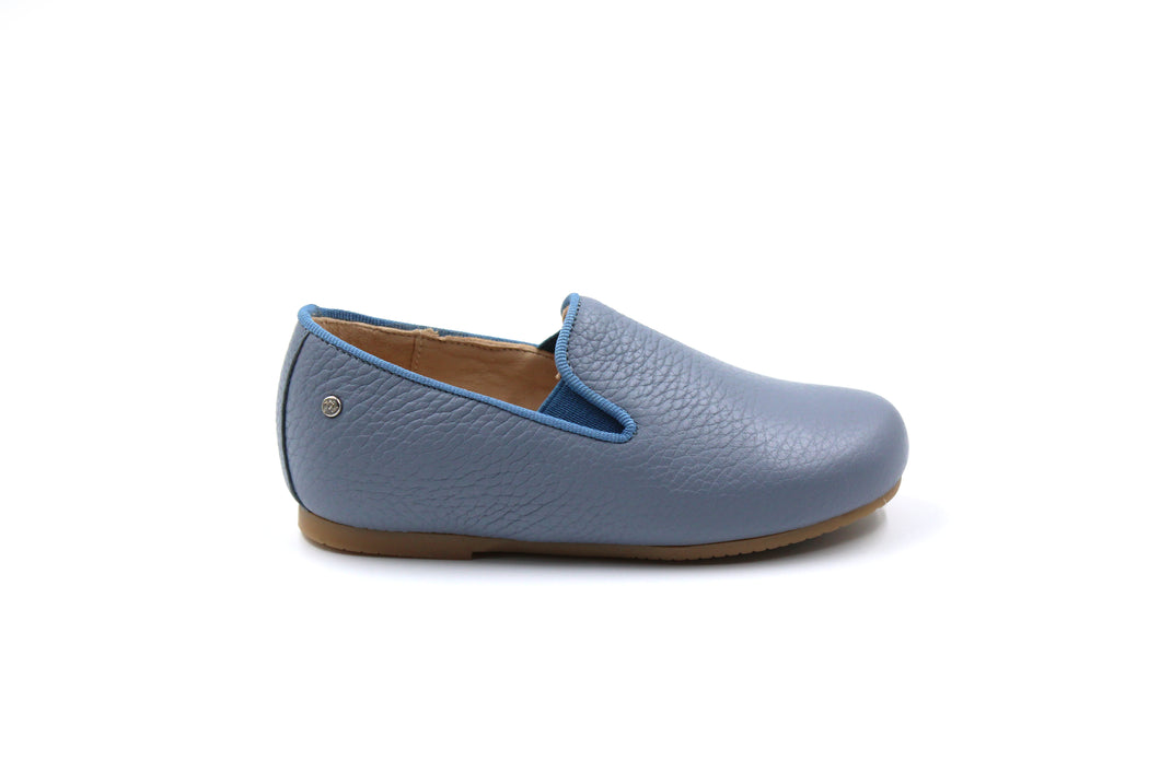 Manuela De Juan Light Blue Smoking Shoe