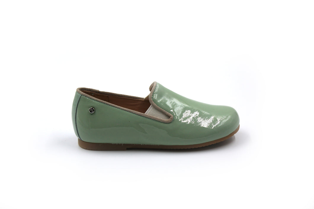 Manuela De Juan Mint Green Smoking Shoe