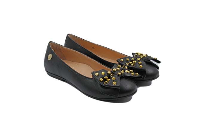 Moschino Black Bow Ballet Flat