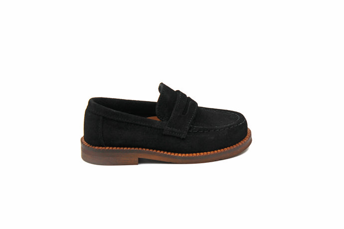 Papanatas Black Suede Chunky Loafer