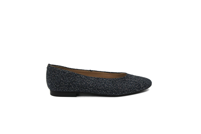 Papanatas Tweed Pointed Flat