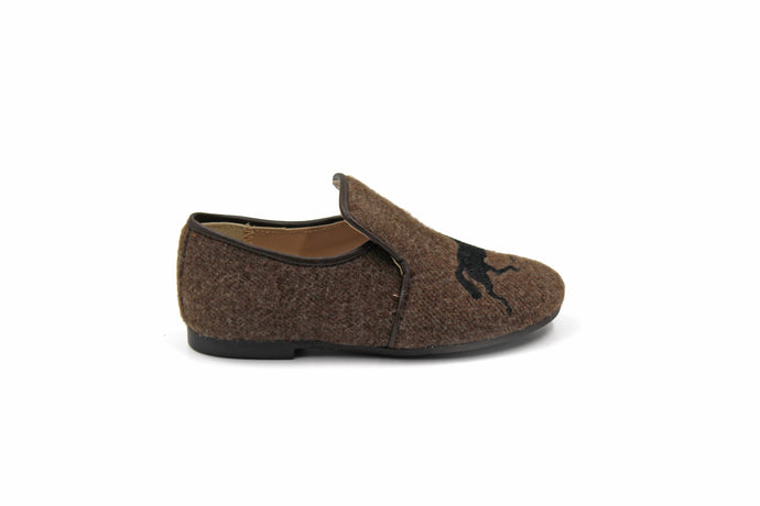 Papanatas Brown Wool Horse Smoking Shoe