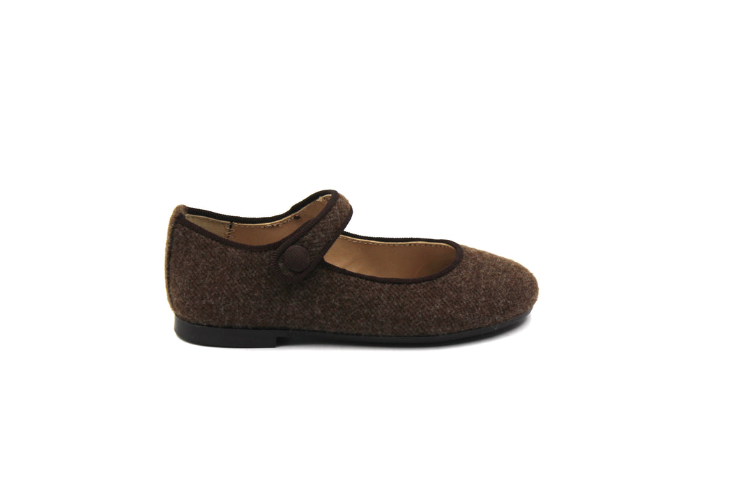 Papanatas Brown Wool Mary Jane