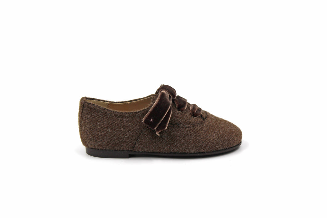 Papanatas Brown Wool Oxford