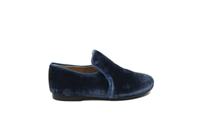Papanatas Indigo Velvet Smoking Shoe