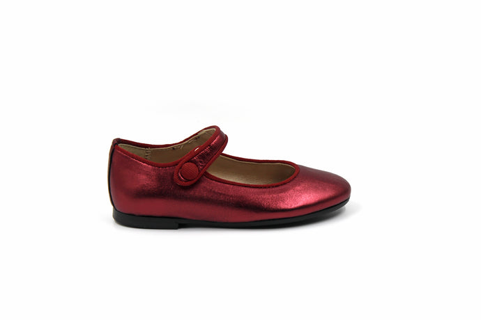 Papanatas Red Metallic Mary Jane