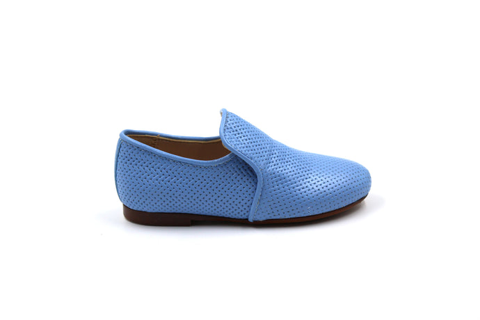 Papanatas Sky Blue Weaved Smoking Shoe