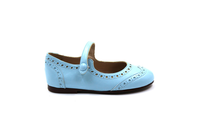 Papanatas Sky Blue Wing Tip Mary Jane