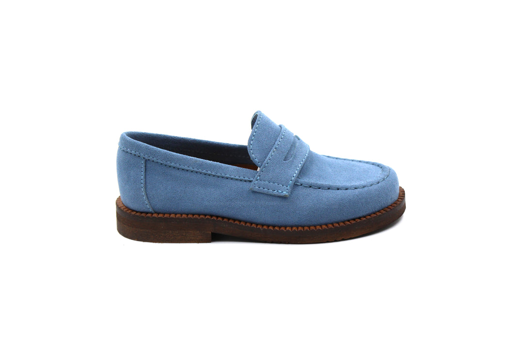 Papanatas Velour Jeans Penny Loafer