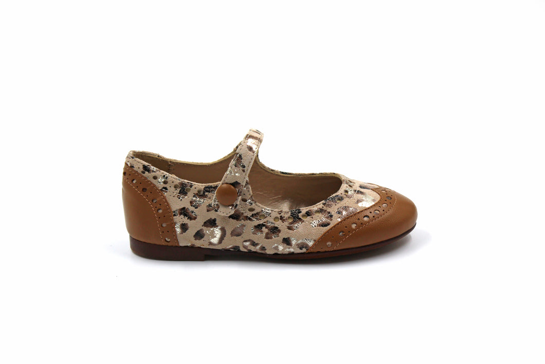 Papanatas Leopard Wing Tip Mary Jane