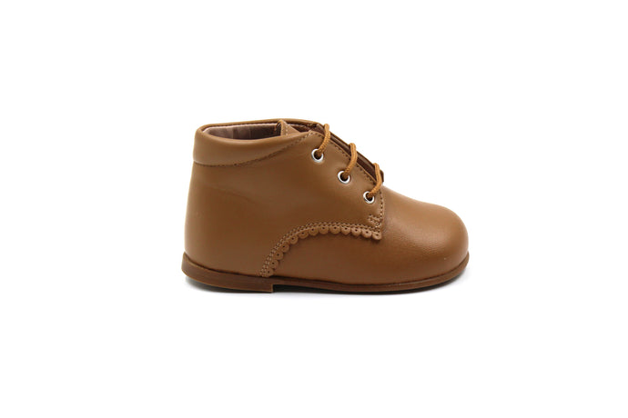 Papanatas Brown Leather Baby Bootie